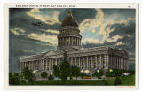 Postcard of Utah State Capitol at night
