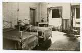 Real photo postcard of Double Bed Room at Rowland Hall