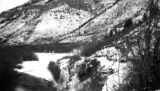 Site of Third Dam in Logan Canyon, Utah, before construction, 1922
