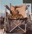 Color image of a wheelchair with crabs